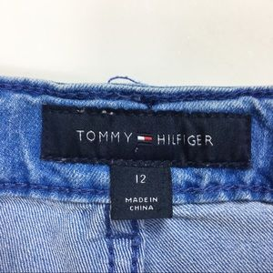 Tommy Hilfiger Bottoms - Tommy Hilfiger Patchwork Raw Hem Denim Shorts Girl